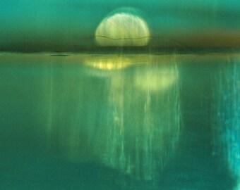 Moonrise - Fine Art Photograph.  Abstract Landscape. Giclee