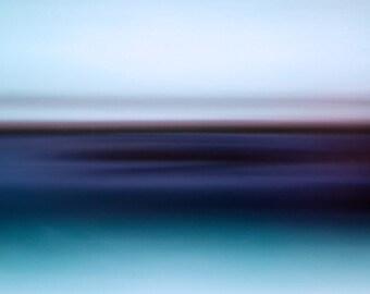 Inner Calm, soothing seascape, blue, red, light blue