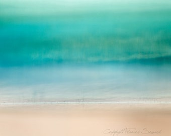 Pale Teal Seas.  Fine Art photo. Limited Edition print. Giclee. Museum print