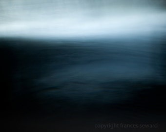 Surreal Sea - Abstract Landscape Photograph - Sea Photo - Horizon -  Modern Art Photo - Giclee - Blue - Oceanscape - Frances Seward - sky