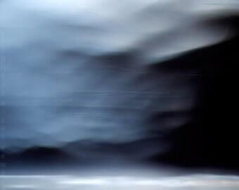 Blue Movement, pale blue, contemporary photo, big canvas wall art, oversized canvas art, zen wall art, lyrical photography, mysterious photo