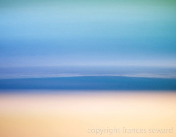 Light Blue Sea.  Modern Art Photograph.  Limited Edition Print. Giclee