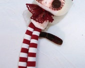 SALE SALE SALE white kitty with candy cane stockings
