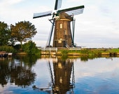 Dutch Windmill- 12x18 Fine Art Photo on Bamboo Panel
