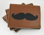 Mustache Wallet - coal and spice
