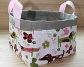 Doxies with Moxie Fabric Basket - Organizer Bin