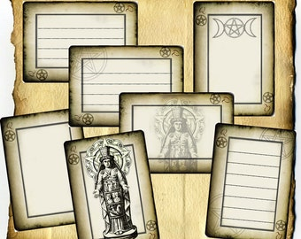 Queen of Pentacles Label and Tag Set - Digital Download, Goddess, Witchcraft, Wiccan
