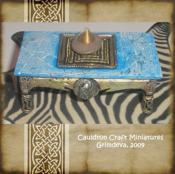 Exotic Egyptian Coffee Table For Dollhouse By CauldronCraftOdditys