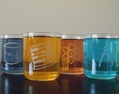 4 Geekery Drinking Glasses