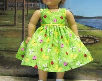 """Girl Bugs Sundress for 18"""" American Girl Doll"""