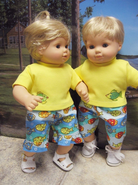 Fish Beachwalker Outfits for Bitty Baby Twins Dolls