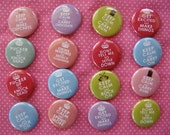 Keep Calm Buttons, Keep Calm Pins (set of 16) pinback buttons, keep calm party favors