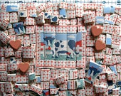 Summer Cows filled with heart - Mosaic Tiles for your next art project