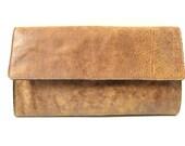 STYLISH LEATHER CLUTCH in Cinnamon Brown - (Last One)