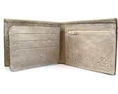 Men's Leather Wallet - Small Sized - in SMOOTH GREY (No. 784)