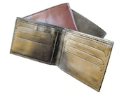 Men's Leather Wallet - small sized wallet for men - in CLASSIC BLACK (No. 464)