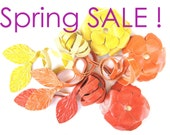 Spring Sale - Free Shipping - BLOSSOM LEATHER BELT - you'll get 2 belts