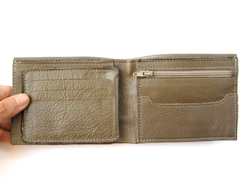 Men's Leather Wallet - in Olive Green (No. 924)