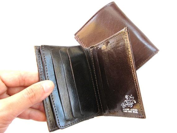 Men's Leather Wallet  - in VERY DARK BROWN  (No. 464)