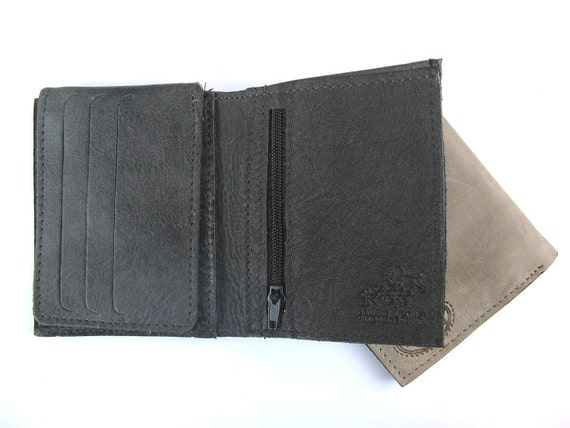 Men's Leather Wallet - in CHARCOAL BLACK (No. 934)