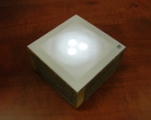 LED Tabletop Nightlight Made from Rustic Reclaimed Fencewood