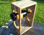 Rustic Wine Rack Made from Reclaimed Fencewood