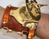 Steampunk Custom bracelet sundial / compass NEW larp cosplay