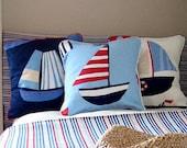 Nautical Childrens Pillow / Cushion for Maritime Nursery
