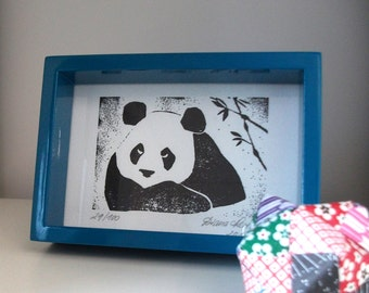 Limited Edition Letterpress Print - Panda
