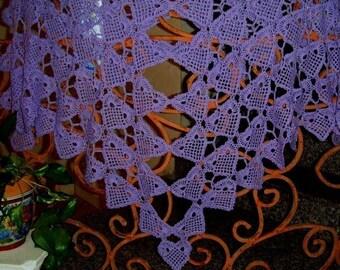 Lace Hearts Crochet Shawl  pattern pdf