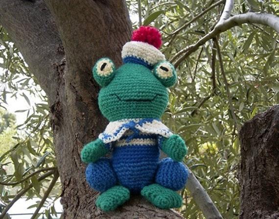 Freddy Frog  Amigurumi crochet pattern pdf