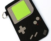 SALE - Gameboy (black) iPhone/iTouch/cellphone Felt  Case