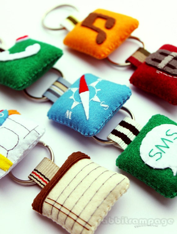 Icon Felt Keychains ( 4 pieces of your Choice )