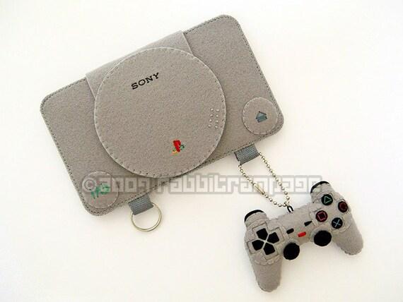 Felt Playstation Case with Controller Keychain
