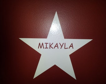 Vinyl Star Sign Decal with your Personalized Name Wall art custom sign