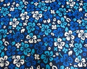 Blue Hawaii Floral Swimsuit Fabric