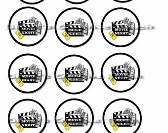 DIY movie night cupcake toppers 2inch