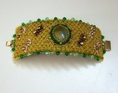 Bead Embroidered Cuff - On the Way to Emerald City