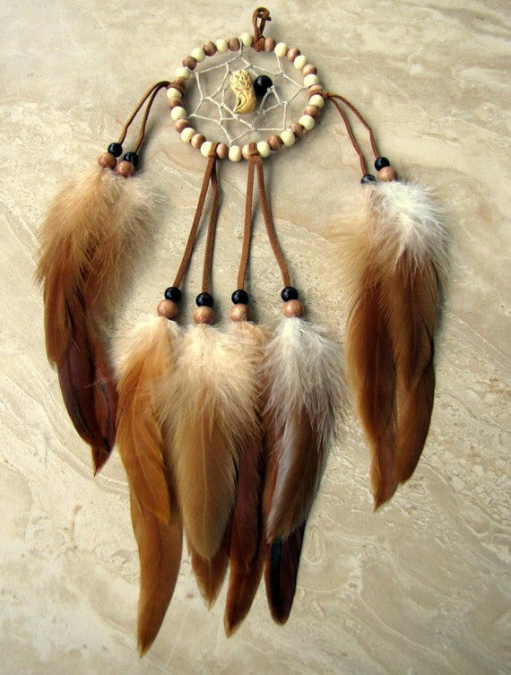 25% OFF Dream Catcher - Feathers, Beaded - 365 Feather Project Day 110 - Eagle Spirit (Ready to Ship)