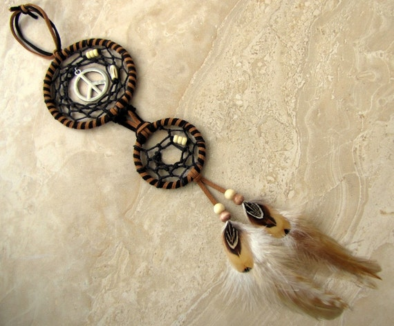 Dream Catcher - Native American Dream Catcher, Double Ring Dream Catcher - Peaceful Dreams (Ready to Ship)