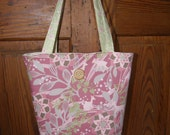 Light Green and Pinks Tote--Free Shipping in US