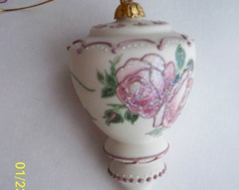 Artist signed Handpainted Bisque Ornament / Decoration