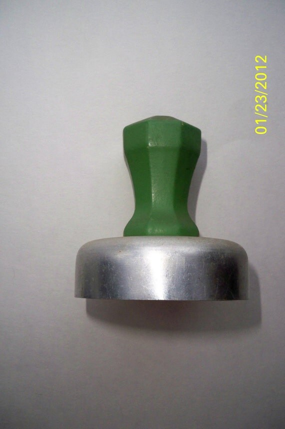 SALE Wood Handled Cookie Cutter / Green Painted Handle Cookie Cutter