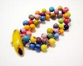Acai berry smoothie sunburst charm bracelet