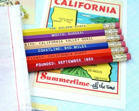 California Pencil Set