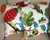 18 x 18 inch Serafina Floral Print Pillow Cover