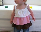 The Hopscotch Top, 4 styles included - Sewing Pattern, PDF Tutorial (sizes 3-6m, 6-12m, 12-18m, 18m-2t, 3t-4t, Girls 5-6, 7-8, 10-12)