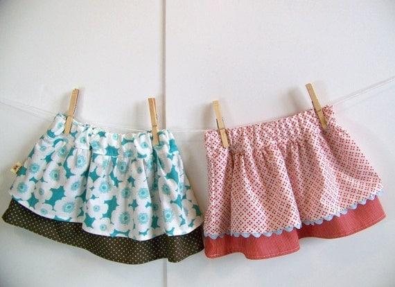 Ruffle Skirt Sewing Pattern (Sizes 0-6m, 6-12m, 12-18m, 2-3t, 4-5, 6-7) DOUBLE DUTCH