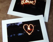 Fine Art Photo Notecards- Set of 2- Love Sparks