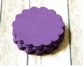 Orchid Purple Eggplant Scalloped Round Tags Wish Tree Journaling Spots Escort Cards Set of 50
